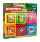 Magformers Card Plus-Animal, 12 Piece and 6 Card Set