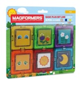 Magformers Card Plus-Face, 12 Piece and 6 Card Set
