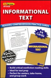Informational Text Reading Comprehension Practice Cards, Blue Level