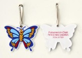 Butterfly Backpack Tag & Lanyard Clip