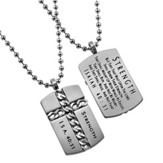 Strength Chain Cross Necklace, Silver