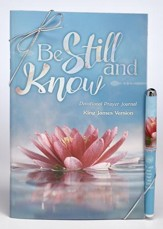 Be Still and Know Prayer Journal and Pen Gift Set, KJV