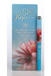 Be Still and Know Pen & Jumbo Bookmark Set