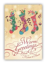 Warm Greeting Christmas Cards, Pack of 20