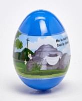 Jumbo Shrink-Wrapped Easter Egg with Mini-Bubbles & Mini-Softcover Book, Blue