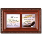 And He Will Raise You Up on Eagles Wings Petite Music Box