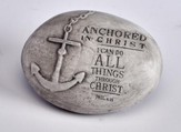 Anchored in Christ Stone Paper Weight