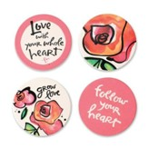 Love Coasters, Set of 4 Assorted