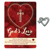 God's Love Heart Nail Pocket Piece with Inspirational Card