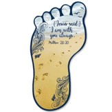 Footprint Shaped Bookmark