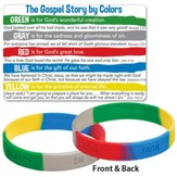 The Gospel Story by Colors, Silicone Bracelet with Card