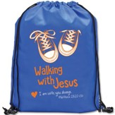Walking with Jesus Drawstring Backpack