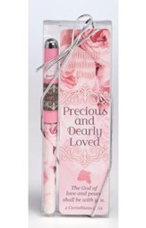 Precious and Dearly Loved Mother Bookmark and Pen Set