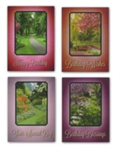 Garden Pathways Birthday Cards, Box of 12
