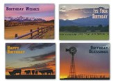 Home on the Range Birthday Cards, Box of 12