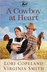 A Cowboy at Heart, Amish of Apple Grove Series #3 Large Print