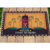 Welcome Family and Friends Door Mat