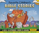Favortie Children's Bible Stories, 4 CD Set