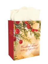 Christmas Shines With Blessings, Gift Bag , Large