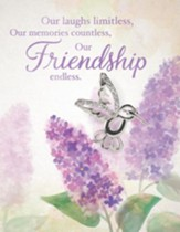 Friendship, Greeting Card with Hummingbird Pin