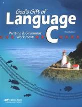 Abeka God's Gift of Language C Writing & Grammar Work-text,  Third Edition