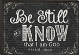 Be Still and Know, Mini Chalkboard Art