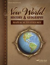 Abeka New World History & Geography  Maps & Activities Key