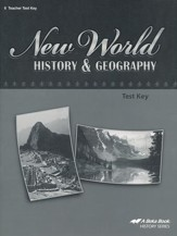Abeka New World History & Geography  Tests Key