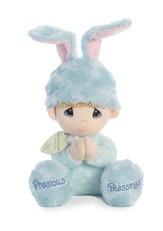 Precious Moments, Musical Prayer Boy Bunny, Blue