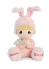 Precious Moments, Musical Prayer Girl Bunny, Pink