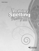 Vocabulary, Spelling, & Poetry III Quizzes