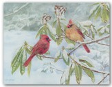 Warmest Wishes, Cardinals On A Branch Christmas Cards, Box of 18