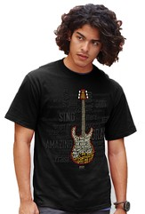 Amazing Guitar Shirt, Black, Small (36-38)