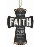 Faith Is Being Sure, Car Charm