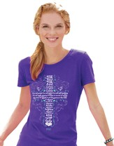 Love Is Patient, Missy Shirt, Purple, Small