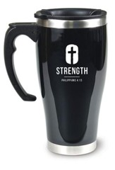 Strength Travel Mug, Philippians 4:13