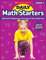 Daily Math Starters: Grade 3: 180  Math Problems for Every Day of the School Year