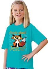 Crazy About Jesus Shirt, Blue, 5T