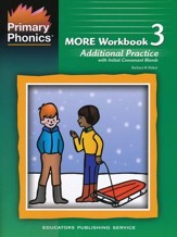 Primary Phonics' More Workbook 3,  Additional Practice,       with Initial Consonant Blend (Homeschool Edition)