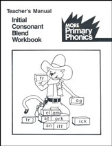 Primary Phonics' Initial Consonant  Blend Teacher's Manual  (Homeschool Edition)