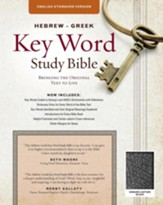 ESV Key Word Study Bible, Genuine Leather, Black, Thumb-Indexed - Imperfectly Imprinted Bibles