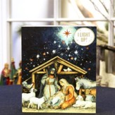 O Holy Night Lighted Nativity Scene