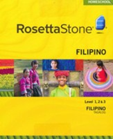 Rosetta Stone Tagalog Level 1-3 Set with Audio Companion Homeschool Edition, Version 3