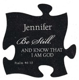 Personalized, Puzzle Magnet, Be Still, Black