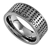 Man of God Sport Men's Ring Silver, Size 10 (1Timothy 6:11)