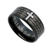 Armor of God, Logos Ring Black, Size 9