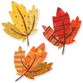 Autumn Leaves 10 Jumbo Designer Cut-Outs