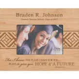 Personalized, Photo Frame, Graduation, 4x6, Maple