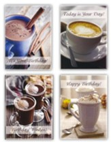 Coffee & Friends Birthday Cards, Box of 12
