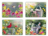 Birds & Blooms Birthday Cards, Box of 12